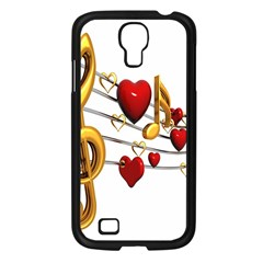 Music Notes Heart Beat Samsung Galaxy S4 I9500/ I9505 Case (black) by Mariart