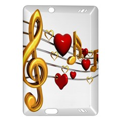 Music Notes Heart Beat Amazon Kindle Fire Hd (2013) Hardshell Case by Mariart
