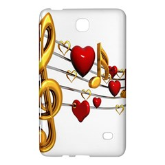 Music Notes Heart Beat Samsung Galaxy Tab 4 (8 ) Hardshell Case  by Mariart
