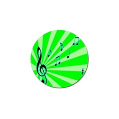 Music Notes Light Line Green Golf Ball Marker (10 Pack) by Mariart