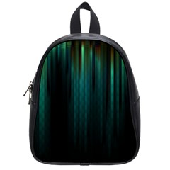 Lines Light Shadow Vertical Aurora School Bags (small)  by Mariart