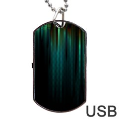 Lines Light Shadow Vertical Aurora Dog Tag Usb Flash (two Sides) by Mariart