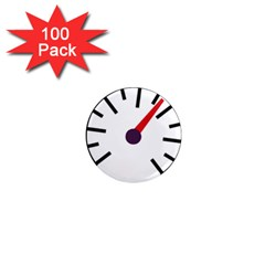 Maker Measurer Hours Time Speedometer 1  Mini Magnets (100 Pack)  by Mariart