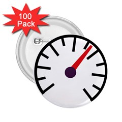 Maker Measurer Hours Time Speedometer 2 25  Buttons (100 Pack)  by Mariart