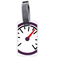 Maker Measurer Hours Time Speedometer Luggage Tags (two Sides) by Mariart