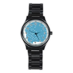Peta Anggota City Blue Eropa Stainless Steel Round Watch by Mariart