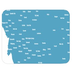 Peta Anggota City Blue Eropa Double Sided Flano Blanket (medium)  by Mariart