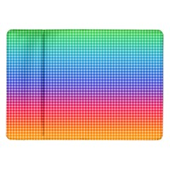 Plaid Rainbow Retina Green Purple Red Yellow Samsung Galaxy Tab 10 1  P7500 Flip Case by Mariart