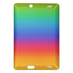 Plaid Rainbow Retina Green Purple Red Yellow Amazon Kindle Fire Hd (2013) Hardshell Case by Mariart