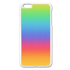 Plaid Rainbow Retina Green Purple Red Yellow Apple Iphone 6 Plus/6s Plus Enamel White Case by Mariart