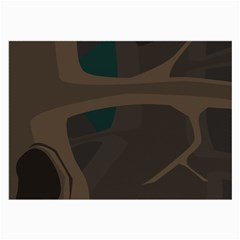 Tree Jungle Brown Green Large Glasses Cloth by Mariart