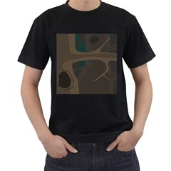 Tree Jungle Brown Green Men s T Shirt (black) by Mariart