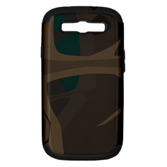 Tree Jungle Brown Green Samsung Galaxy S Iii Hardshell Case (pc+silicone) by Mariart