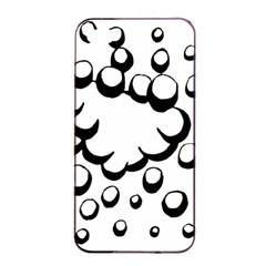 Splash Bubble Black White Polka Circle Apple Iphone 4/4s Seamless Case (black) by Mariart