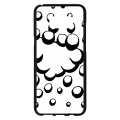 Splash Bubble Black White Polka Circle Samsung Galaxy S8 Plus Black Seamless Case by Mariart