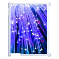 Neon Light Line Vertical Blue Apple Ipad 2 Case (white) by Mariart