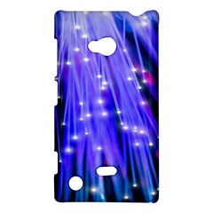 Neon Light Line Vertical Blue Nokia Lumia 720 by Mariart