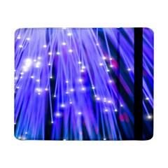 Neon Light Line Vertical Blue Samsung Galaxy Tab Pro 8 4  Flip Case by Mariart