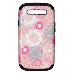 Scrapbook Paper Iridoby Flower Floral Sunflower Rose Samsung Galaxy S Iii Hardshell Case (pc+silicone) by Mariart