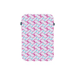 Squiggle Red Blue Milk Glass Waves Chevron Wave Pink Apple Ipad Mini Protective Soft Cases by Mariart
