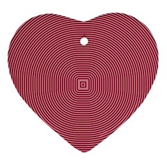 Stop Already Hipnotic Red Circle Ornament (heart) by Mariart