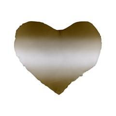 Decorative Pattern Standard 16  Premium Flano Heart Shape Cushions by ValentinaDesign