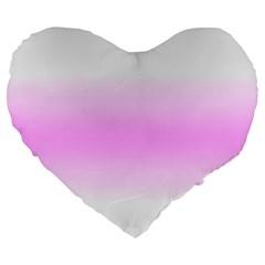 Decorative Pattern Large 19  Premium Flano Heart Shape Cushions by ValentinaDesign