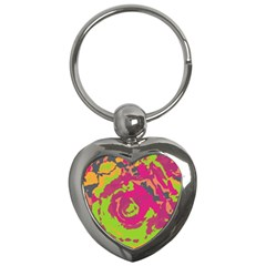 Abstract Art Key Chains (heart)  by ValentinaDesign