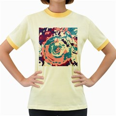 Abstract Art Women s Fitted Ringer T Shirts by ValentinaDesign