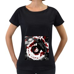 Abstract Art Women s Loose Fit T Shirt (black) by ValentinaDesign