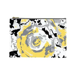 Abstract Art Cosmetic Bag (large)  by ValentinaDesign