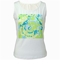 Abstract Art Women s White Tank Top by ValentinaDesign