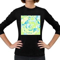 Abstract Art Women s Long Sleeve Dark T Shirts by ValentinaDesign