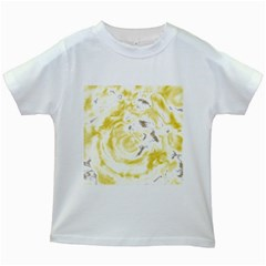 Abstract Art Kids White T Shirts by ValentinaDesign