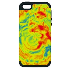 Abstract Art Apple Iphone 5 Hardshell Case (pc+silicone) by ValentinaDesign