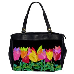Tulips Office Handbags (2 Sides)  by ValentinaDesign