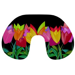 Tulips Travel Neck Pillows by ValentinaDesign