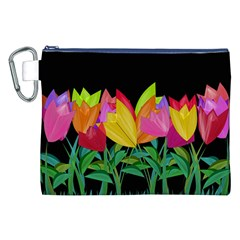 Tulips Canvas Cosmetic Bag (xxl) by ValentinaDesign