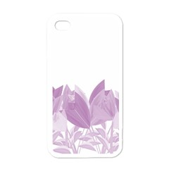 Tulips Apple Iphone 4 Case (white) by ValentinaDesign
