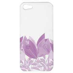 Tulips Apple Iphone 5 Hardshell Case by ValentinaDesign