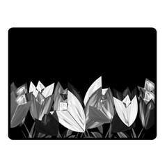 Tulips Fleece Blanket (small) by ValentinaDesign