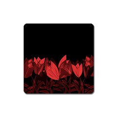 Tulips Square Magnet by ValentinaDesign
