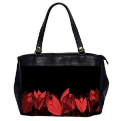 Tulips Office Handbags (2 Sides)  by ValentinaDesign