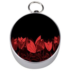 Tulips Silver Compasses by ValentinaDesign