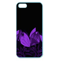 Tulips Apple Seamless Iphone 5 Case (color) by ValentinaDesign