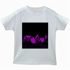 Tulips Kids White T Shirts by ValentinaDesign
