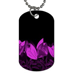 Tulips Dog Tag (two Sides) by ValentinaDesign