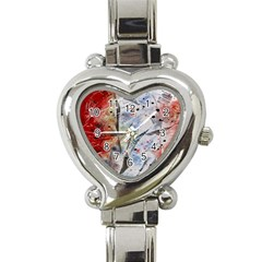 Abstract Design Heart Italian Charm Watch by ValentinaDesign
