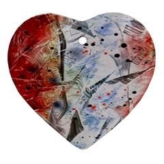 Abstract Design Heart Ornament (two Sides) by ValentinaDesign