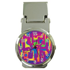 Abstract Art Money Clip Watches by ValentinaDesign